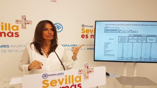 La concejal del PP del Ayuntamiento de Sevilla Evelia Rincón