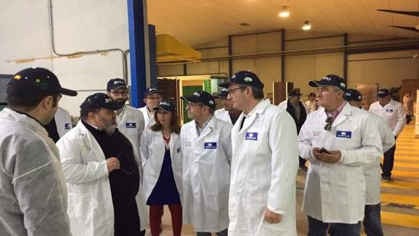 Visita Diego Conesa, Ana Belén Castejón y Hugo Morán