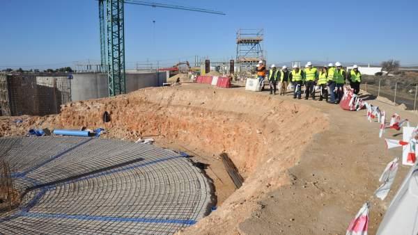 Obras de la depuradora de El Cautivo en Níjar