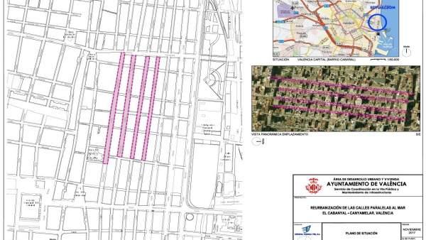 L'Ajuntament de València reurbanitzarà quatre carrers en el Cabanyal