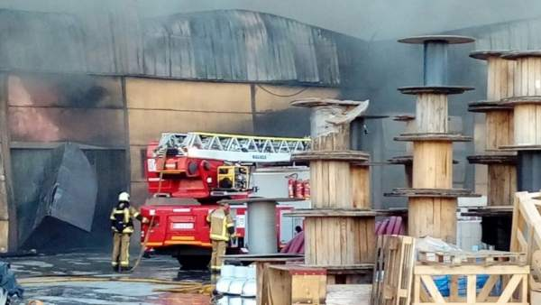 Incendio en el polígono industrial