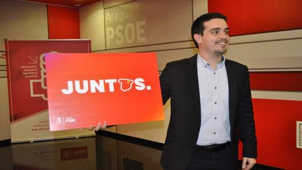 El secretario de Organización del PSOE Aragón, Darío Villagrasa.