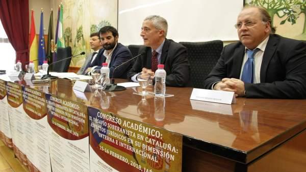 Inauguración del congreso sobre el proceso soberanista de Cataluña.