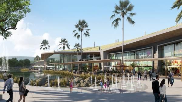 Recreación virtual del centro comercial Palmas Altas