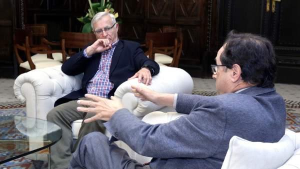 Reunión entre Joan Ribó y Vicent Soler