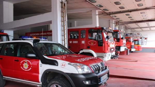 Vehículos de bomberos de la Diputación de Huelva