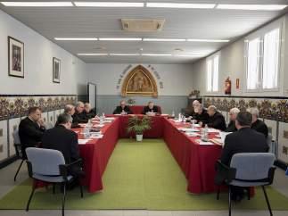 Los obispos en la reunión de la Conferencia Episcopal Tarraconense (CET)