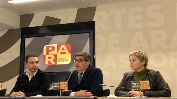 Jesús Guerrero, Arturo Aliaga y Berta Zapater