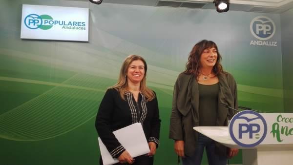 Loles López, hoy en rueda de prensa junto a Teresa Ruiz-Sillero