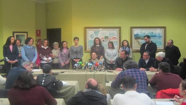 Consagrados de los Miguelianos dan una rueda de prensa