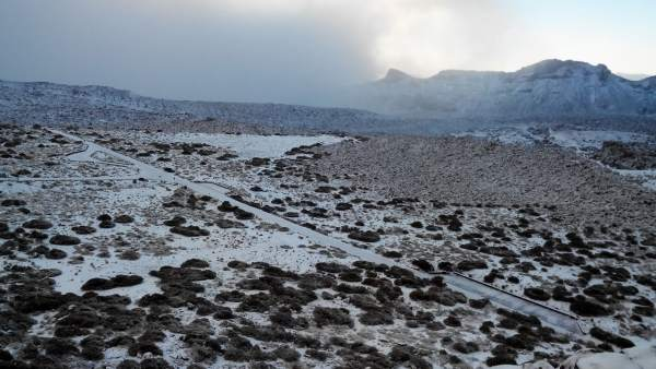Nieve en el Parque Nacional del Teide