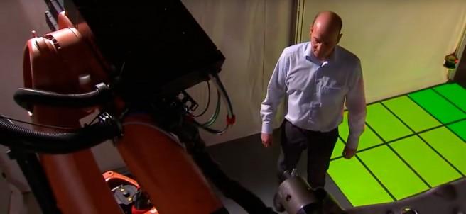 Sistema de prueba de seguridad entre robots y humanos