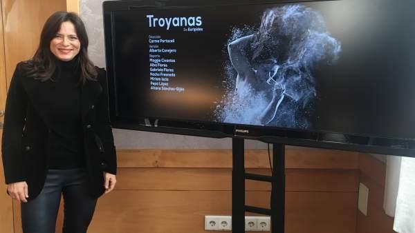 Valladolid.- Aitana Sánchez-Gijón, durante la presentación de 'Troyanas'