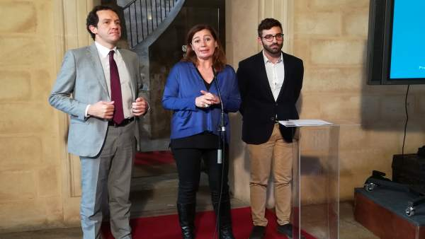 Marc Pons, Francina Armengol Y Joan Groizard