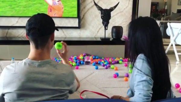 La divertida afición 'low cost' de Cristiano y Georgina