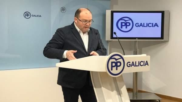 Miguel Tellado, en rueda de prensa, PPdeG