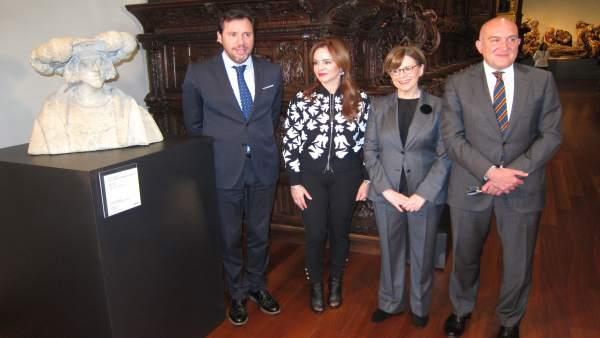 Puente, Silvia Clemente, María Bolaños y Jesús Julio Carnero, en San Gregorio