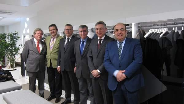 Autoridades en la inauguración de la Sala de Togas de la Ciudad de la Justicia