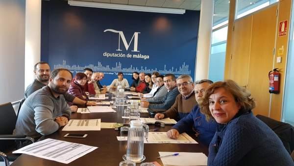 Reunión de IU en Diputación