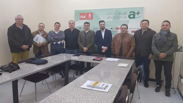 Reunión del PSOE con sindicatos penitenciarios