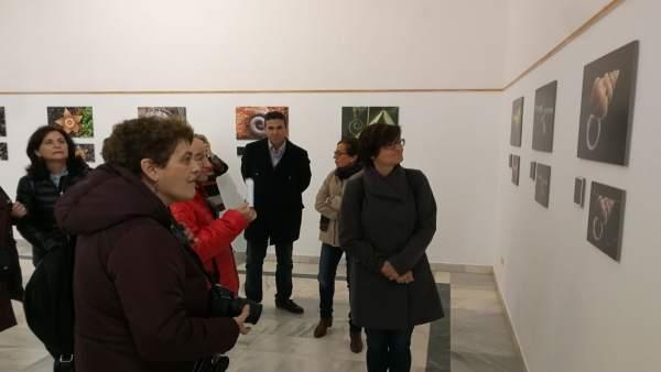 Pernichi (dcha.) visita la muestra