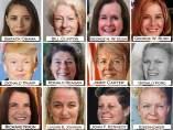 Caras de presidentes convertidos en mujer