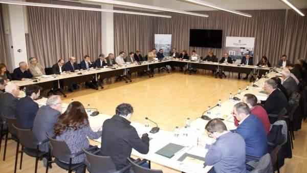 Reunión de la Diputación de Lleida con consells comarcals