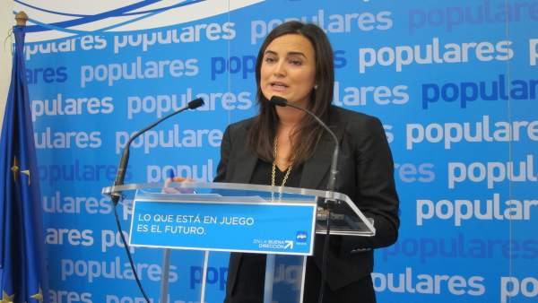 La portavoz del PPN, Cristina Sanz.
