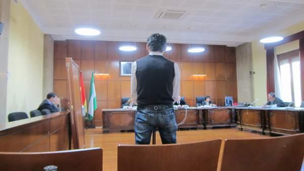 El acusado durante el juicio en la Audiencia de Jaén