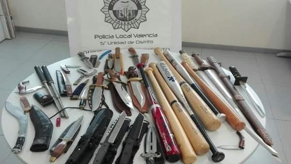 Arsenal incautado por la Policía