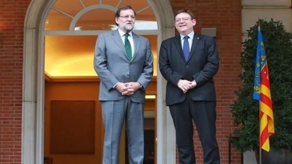 Reunión de Rajoy y Puig en noviembre de 2015