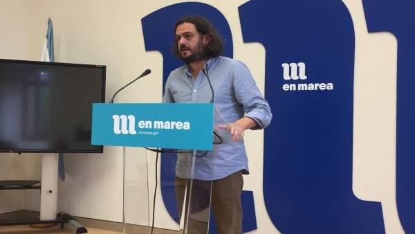Antón Sánchez, en el Parlamento
