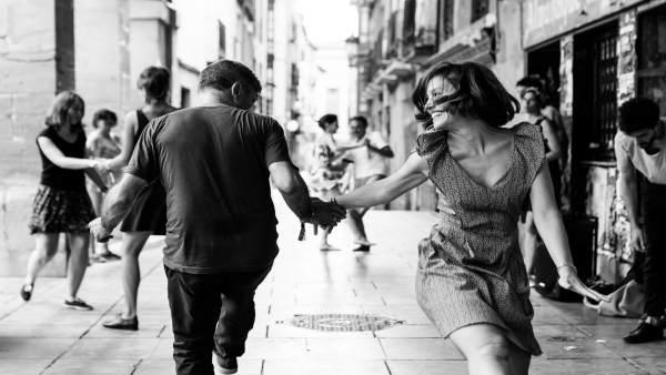Bailando swing en Logroño