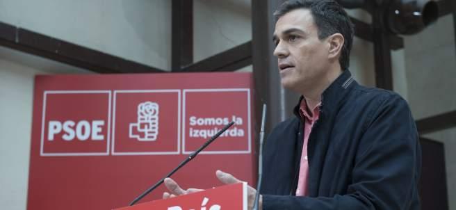 El líder del PSOE, Pedro Sánchez, en su intervención ante el Comité Federal.