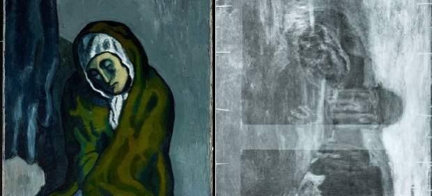 Descubren una posible pintura de Torres-García oculta en un cuadro de Picasso