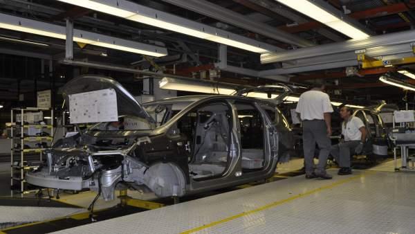 Cadena de montaje de Opel con el Ergochair