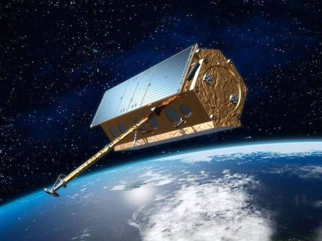 Recreación del satélite español Paz