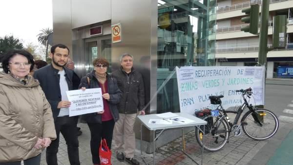 IU reclama reponer zonas verdes 'suprimidas' en Eduardo Dato