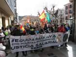 Soria.- Cabecera de la manifestación en Soria