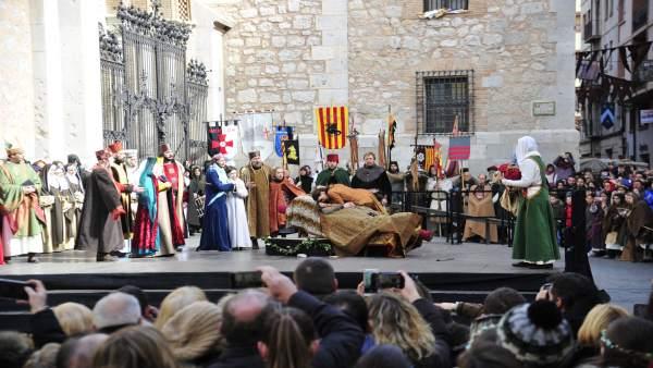 La recreación de la leyenda de los Amantes de Teruel finaliza este domingo.