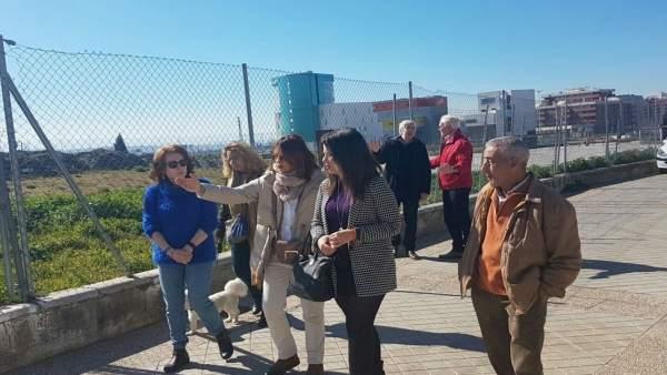 Concejales de Cs visitan el barrio del Zaidín-PTS