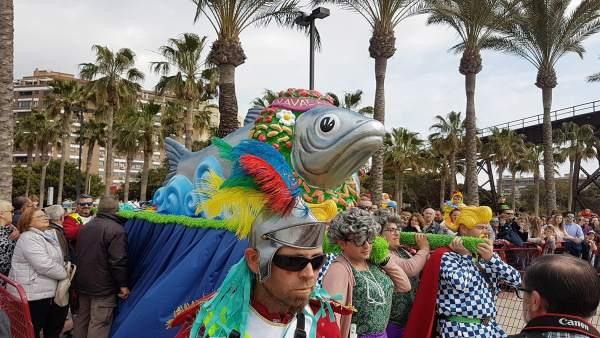 Entierro de la sardina en el Carnaval de Almería