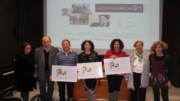 Entrega de premios de cartas de amor y de desamor de Almuñécar (Granada)
