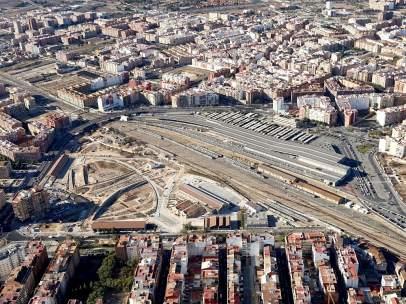 El diseño de la trama urbanística, visible desde el aire.