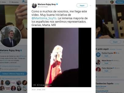 Rajoy, sobre Marta Sánchez