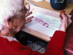 Una anciana con Alzheimer