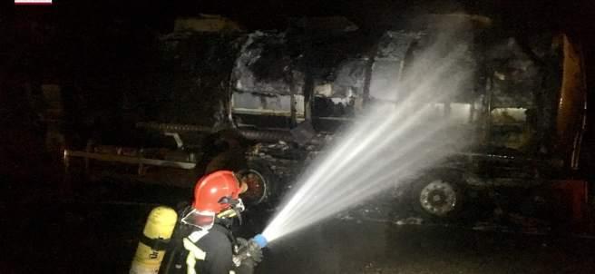 Incendio de un camión en Benicarló