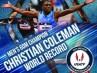 Coleman hace trizas su propio récord mundial de 60 lisos y lo rebaja a 6.34