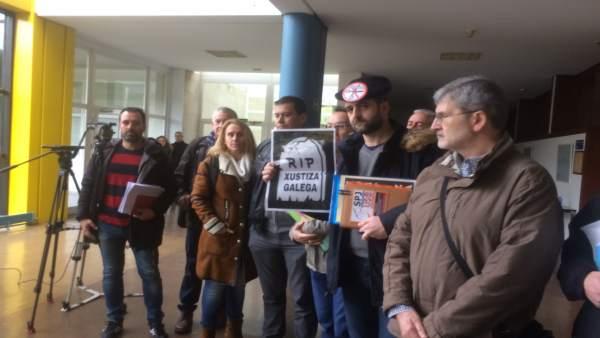 Reunión por la huelga en la Justicia en Galicia.