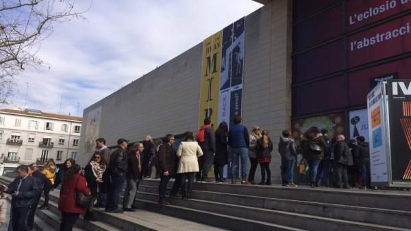 Unes 3.500 persones visiten la mostra de Miró en el seu primer cap de setmana